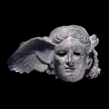 Bronze head from a statue of Hypnos, 350 – 200 B.C. The British Museum, London.