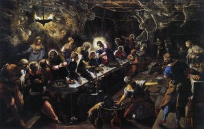 Jacopo Tintoretto, The Last Supper, 1592-1494, oil on canvas.