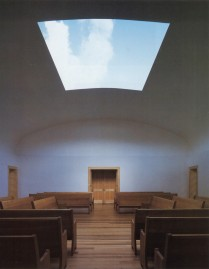 James Turrell, Live Oak Quaker Meeting House, 2000. Houston, Texas.