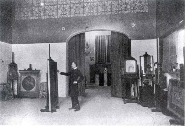 Fernand Khnopff in his studio.